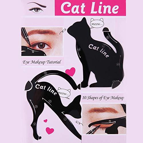 Pochoirs pour Eye-Liner Chat Cartes pour Gabarit Eyeliner Yeux Outil de Maquillage pour Les Femmes Filles