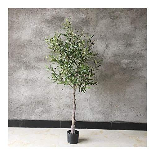 Wudimaoyiyouxian Simulazione Artificiale Ulivo, Big Green Plant, in Vaso dell'interno Piano casa Decorazione, Decorazioni for Finestra (Size : 1.5m Olive Tree)