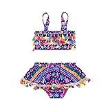 Baby Girl Swimsuit 12-24month Two Piece Tankini Fringe Swimwear Beach Skirt Set