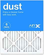 AIRx DUST 16x20x1 MERV 8 Pleated Air Filter - Made in the USA - Box of 6