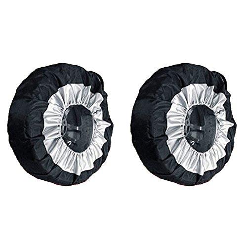 Symboat protección automático de Protector de neumático de Rueda de Bolsa de Almacenamiento de Protectora de neumáticos de Coche 65cm...