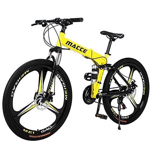 Hyhome Bicicletas de montaña plegables para adultos, 26 pul