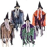 Bruja Malvada Colgante de Halloween de 50 cm de Varios Colores (4 Pack) Accesorios de...