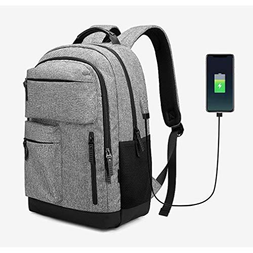 Sac à dos de 15,6 pouces pour ordinateur portable avec port de charge USB, sac à dos décontracté résistant à l'eau pour sac à dos de voyage scolaire au travail / affaires / collège / hommes,lightGray