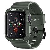 【Spigen】 Apple Watch バンド 一体型 ケース 【 Series SE/Series 6 / Series 5 / Series 4 40mm 対応 】落下 衝撃 吸収 ラギッド・アーマー プロ ACS00547 (ミリタリー・グリーン)
