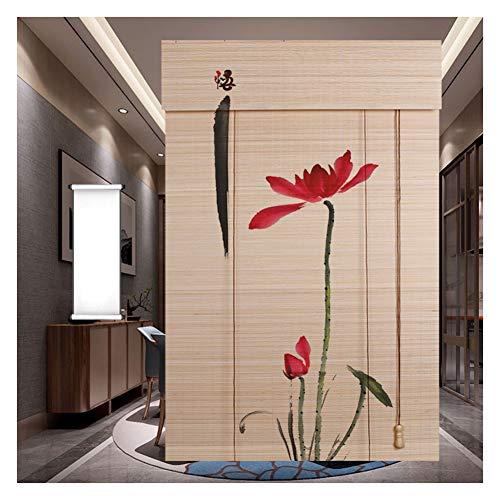 CHAXIA rolgordijn bamboe schaduw Romeinse jaloezieën rolluik achtergrond decoratie woonkamer slaapkamer gemakkelijk te reinigen, meerdere maten, aanpasbaar