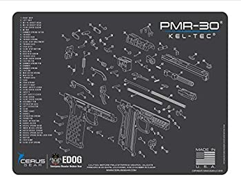 EDOG PMR-30 Gun Cleaning Mat - Schematic  Exploded View  Diagram Compatible with Kel-Tec PMR-30 Series Pistol 3 mm Padded Pad Protect Your Firearm Magazines Bench Surfaces Gun Oil Solvent Resistant