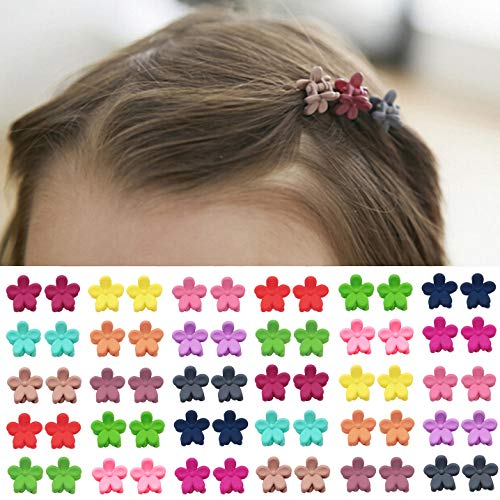 Product Image of the Elesa Miracle 60pcs Baby Girl Mini Hair Claw Clips Flower Hair Bangs Pin Baby...