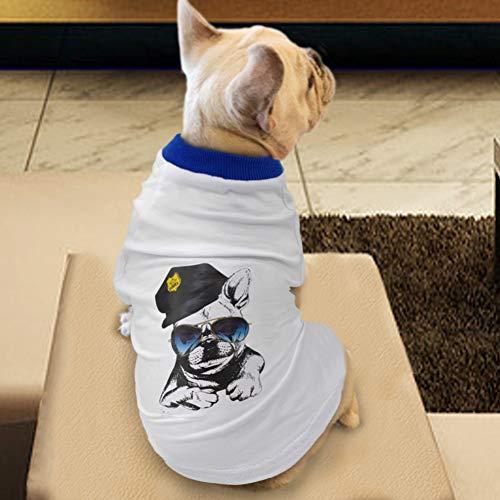 RTEAQ Ropa Mascotas Camiseta para Perros de Verano Chaleco de algodón Suave Ropa para Perros Camisa Ropa de Cachorro Transpirable Ropa para Mascotas Disfraces para Perros Pitbull Pug Ropa Perros