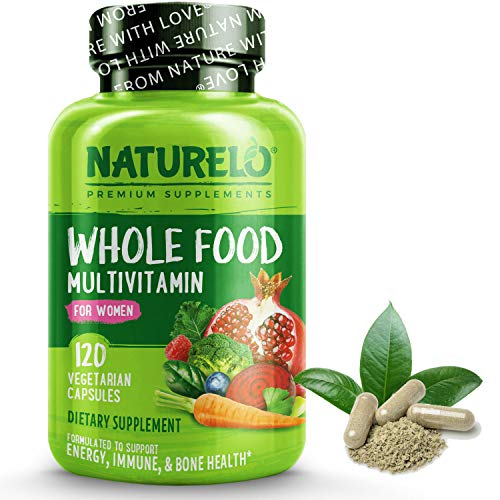 NATURELO Whole Food Multivitamin for Women - with Vitamins, Minerals,...