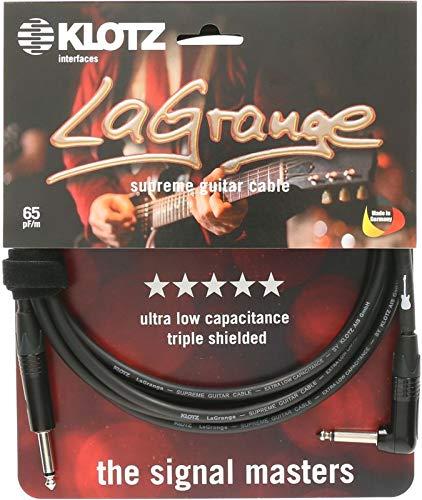 KLOTZ LaGrange - supreme gitarren kabel, mit sehr geringer Kapazität, dreifach geschirmt (3, gerade-gewinkel, nickel kontakt)