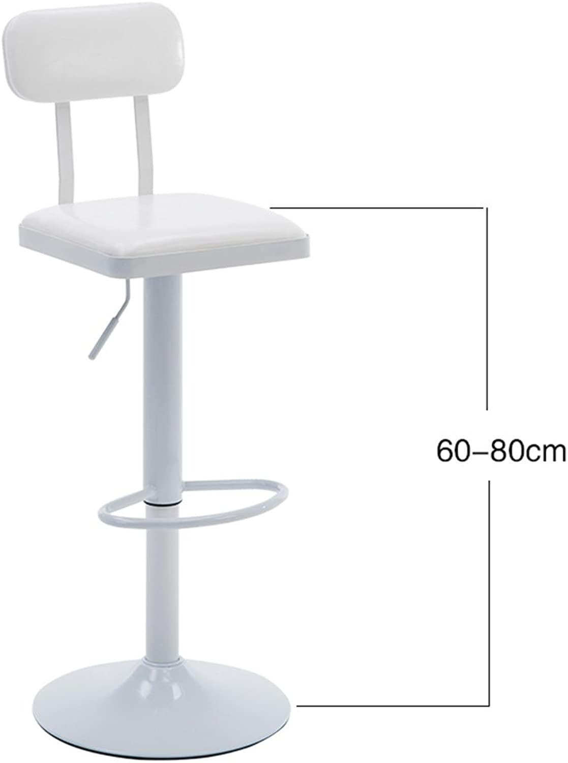 DQMS Retro Bar Stool Kitchen Cafe Dining Chair Comfortable Leather Backrest High Stool Lift Swivel Chair (color   4 )