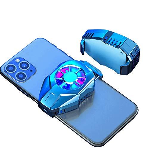 Radiador de Teléfono Móvil Refrigerador Portátil Ventilador de Enfriamiento Rápido Transmisión en Vivo Enfriamiento Rápido de Juegos Adecuado para Todo Tipo de Teléfonos Móviles