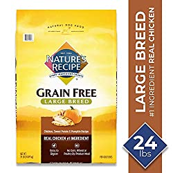 Nature's Recipe Grain Free Large Breed Dry Dog Food, Chicken,...