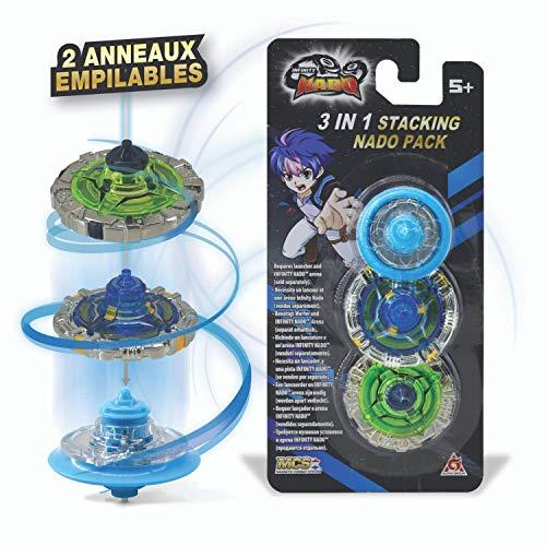 Infinity Nado - Pack de 2 Anillos apilables + 1 Mini peonía Azul EU634906H