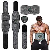 ANLAN EMS Electroestimulador Muscular Abdominales Cinturon, Masajeador Eléctrico Cinturón con USB,...