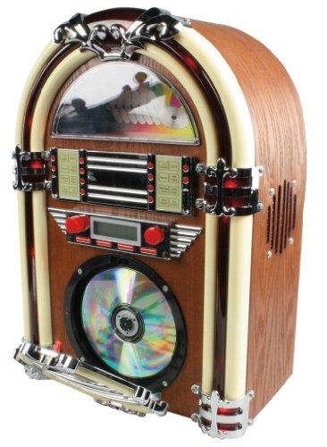 Hq HQ-JB100 Jukebox Mit CD-Player (FM Tuner, 40 Watt)