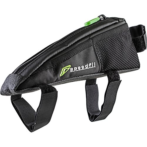SP2 Bicycle Frame Storage Bag, Bolt on or Strap to Top Tube, Side Mesh...