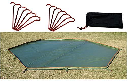 iBeamed 6角形 お座敷 グランドシート 立体3D 虫よけ 汚れよけ フットプリント (380, 6角形)
