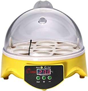 Mini Egg Incubator 7 Egg, Incubator for Eggs Poultry Hatcher Egg Hatcher Machine General Purpose Incubators, with Temperat...