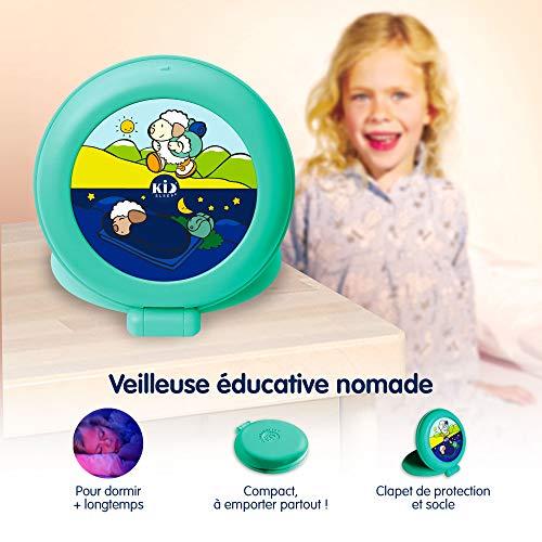 Claessens' Kid - Globetrotter - Reveil nomade Enfant Educatif Jour/Nuit Lumineux - Vert