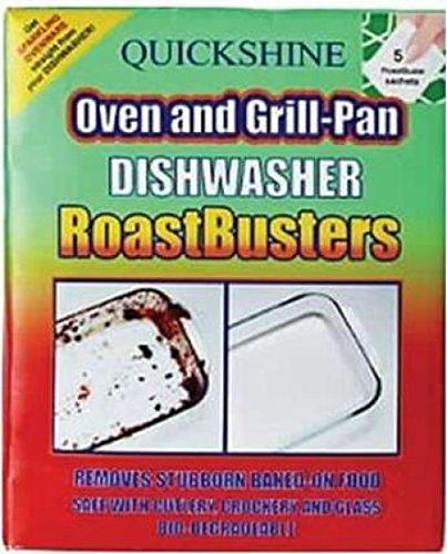 Gebraden Busters verwijdert koppig gebakken op voedsel op borden en pannen in de vaatwasser