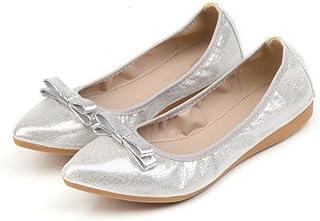 LaBiTi Big Size Flat Shoe Elegant Comfortable Woman's Leisure Ballet Flats Fashion Woman Student Foldable Shoes