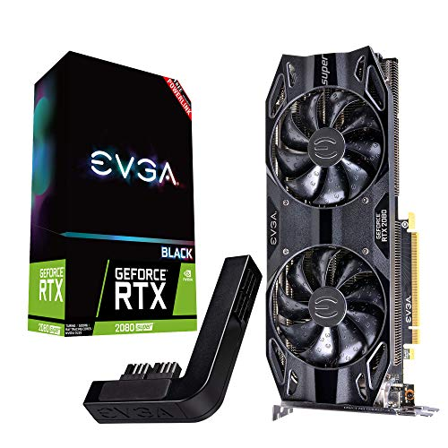 EVGA GeForce RTX 2080 Super Black Gaming, 8GB GDDR6 + Powerlink 08G-P4-3081-Kp