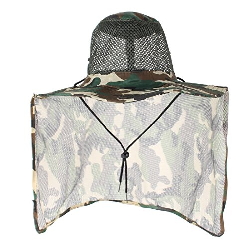 Sourcingmap Filet Camouflage Vert Beige Rouler Design Pêche Rim Hat Cap Hommes