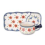 MDZF SWEET HOME Ceramic Glaze Breakfast Bowl Set with Handle for Oatmeal, Bread, Soup Bowl...