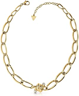 Guess Womens Stainless Steel Fashion Necklace - UBN29025, Color Gold, Size 20 cm