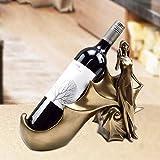 ZLJ Retro Cold Cast Copper Art Conch Wine Rack Estilo de Belleza Escritorio Porche Bar Restaurante Gabinete de Vino Decoración Hogar Adornos creativos Bronce Elegante y Hermoso