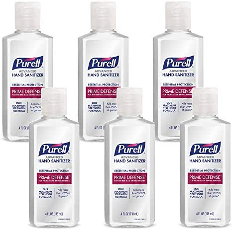 PURELL Prime Defense Advanced Hand Sanitizer Essential Protection 4 fl oz Travel Size Bottles product image