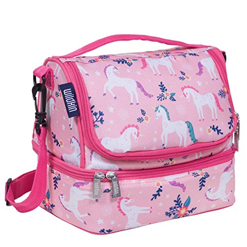 Wildkin Kids Two Compartment Insulated Lunch Bag for Boys and Girls,...
