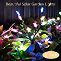 mopha Solar Garden Lights Outdoor Stake Bright LED Solar Powered Landscape Lights for Pathway,Yard,Patio,Deck,Walkway Christmas Decoration- Two Mode Solar Tree Lights