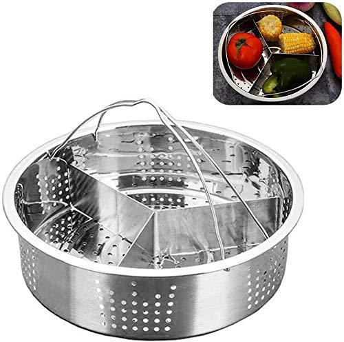 Trio - Juego de separadores de acero inoxidable para cesta de vapor de acero inoxidable, accesorios...