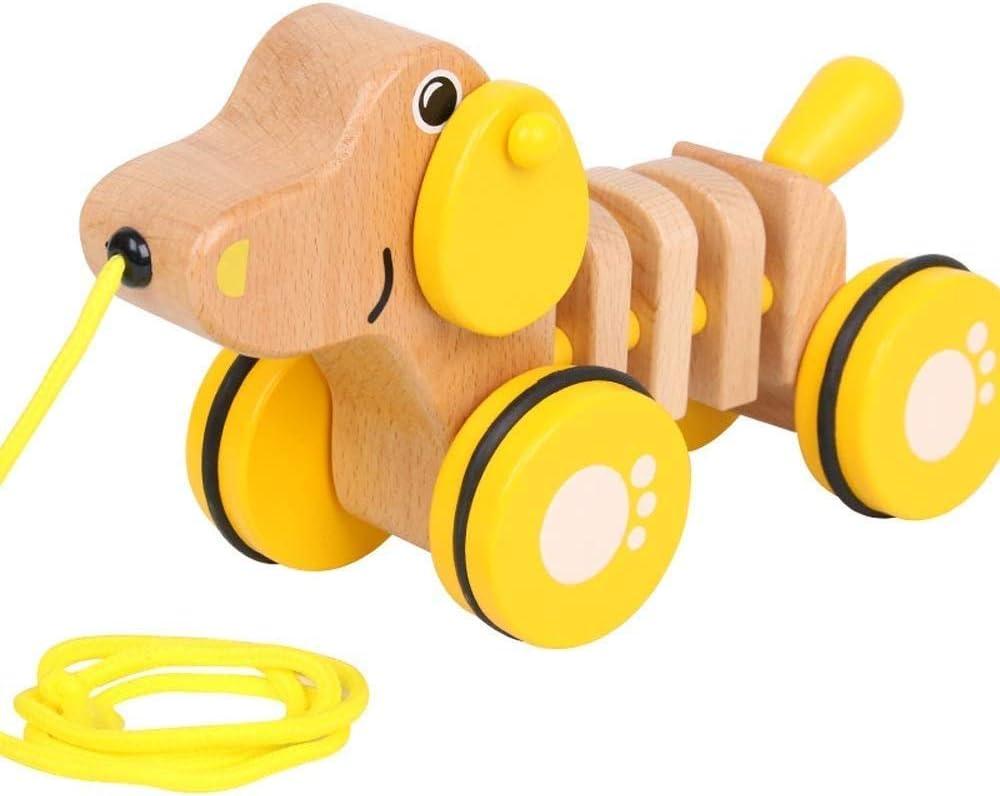 Ladan Fun Toy Car Pulling San Antonio Mall Wooden Safety Mater car Puppy Walker Genuine Free Shipping