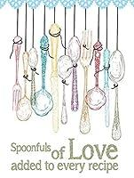すべてのレシピに追加されたスプーン1杯の愛ティンサインの装飾ヴィンテージの壁金属の飾り額レトロな鉄の絵カフェバー映画のギフト結婚式誕生日の警告