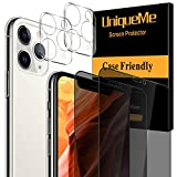 [4 Pack] UniqueMe 2 Pack Tempered Glass Privacy Screen Protector...
