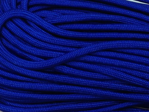 50FT Type III Electric Blue Paracord 550 Parachute Cord 7 Strand Made In USA