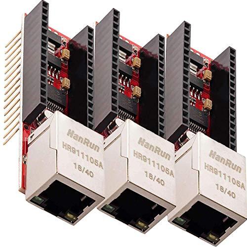 AZDelivery 3 x ENC28J60 Ethernet Shield für Arduino Nano V3.0 inklusive E-Book!