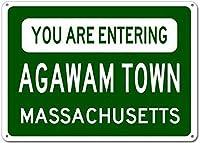 ヴィンテージの複製サインインチ、あなたはアガワムの町、マサチューセッツ州の都市の看板に入るティンサインアート鉄絵金属プラークヴィンテージ壁の装飾ポスターハウスカフェレストランバー