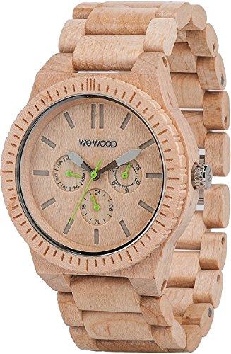 Uhr WeWood Kappa kappabeige Quarz (Batterie) Holz Quandrante beige Armband Holz