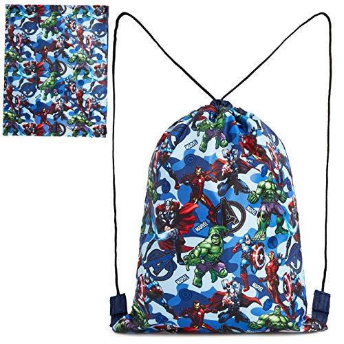Marvel Mochila Cuerdas, Mochila Saco con Superheroes Capitan