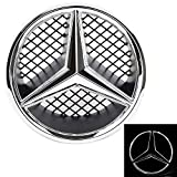 Patricon Xenon White LED Illuminated Logo Car Front Grilled Star Emblem for Mercedes Benz C-Class W204 / GLK X204 / B-Class W245 Series Center Front Badge Lamp Light