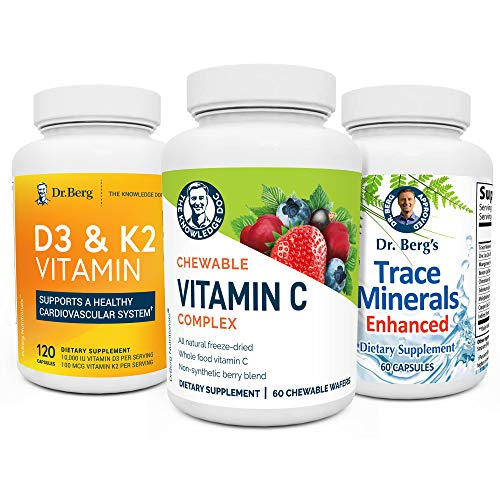 Dr. Berg's Immune Booster Kit - Advanced Healthy Immune System Support Boost Supplements for Men & Women - with Vitamin C, D, & Zinc (from Trace Minerals)