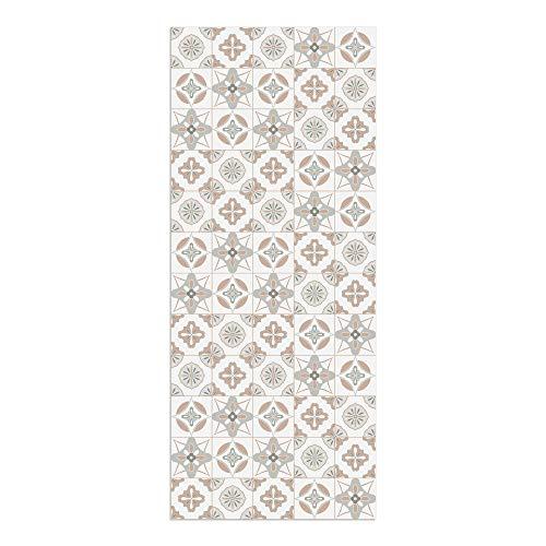 DON LETRA Alfombra Vinílica Baldosas, 120 x 50 cm, Color Salmón, Vinilo PVC Estampado, Grosor 2.2 mm, ALV-087