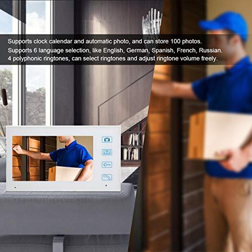 Liyeehao Timbre del intercomunicador, visión Nocturna infrarroja del Sistema del intercomunicador casero para la Oficina para la Seguridad del hogar para el apartamento(Transl)