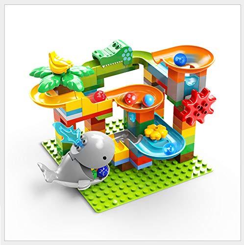 Feelo - Pistas para canicas, compuesta por 84 grandes bloques de construcción, para niños a partir de 3 años.