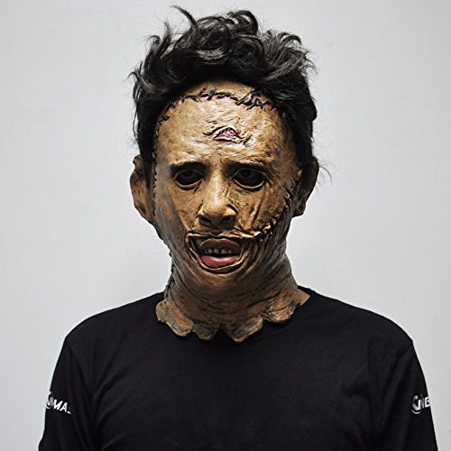 Texas Chainsaw Massacre Leatherface Masks,Latex Scary Movie Halloween Cosplay Costume Party Event Props Toys Carnival Mask (Color : A)